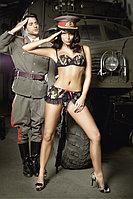 """Игровой костюм """"Сексуальная сержантка"""":  топ и мини-юбка, фото 1"""