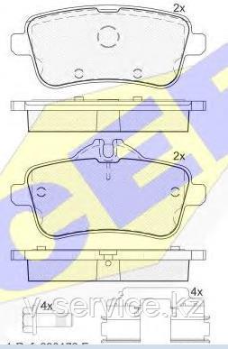 Тормозные колодки ICER 182072-067(REMSA 1503.10)