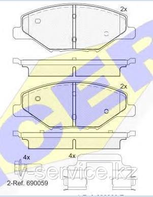 Тормозные колодки ICER 182110(REMSA 0000.00)