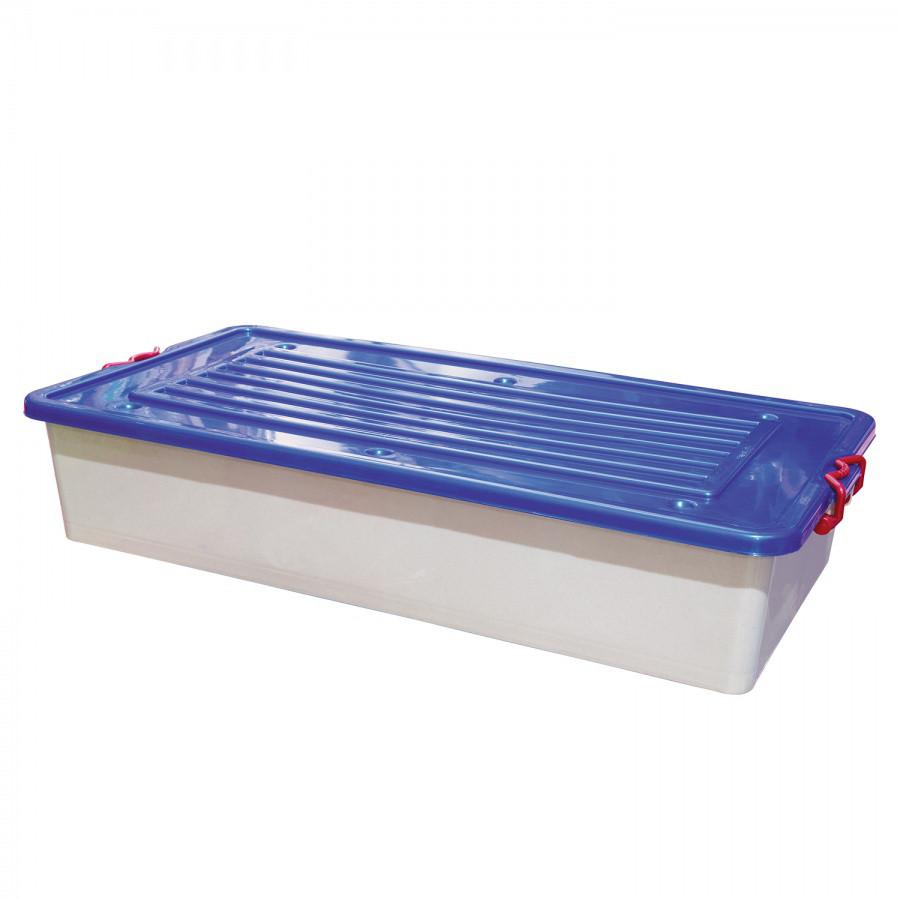 Контейнер с крышкой на колесиках (32 л.) из пластика