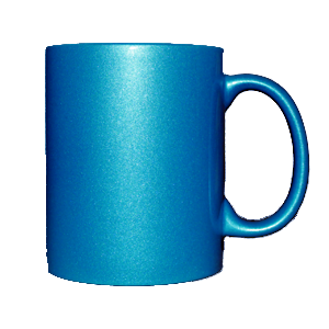 Кружка керамическая перламутр (голубой)