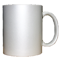 Кружка керамическая перламутр (белый)