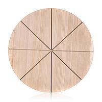 Доска для пиццы d=30*1,2 см. на 6 сегментов, фанера береза