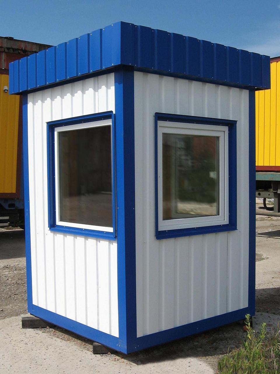 Посты охраны, домик охранника, охранная будка, КПП из блок контейнера