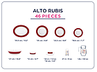 Столовый сервиз Luminarc Alto Rubis 46 предметов на 6 персон, фото 2