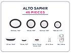Столовый сервиз Luminarc Alto Saphir 46 предметов на 6 персон, фото 2