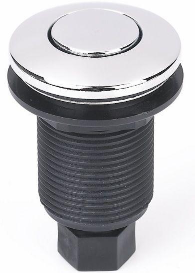 Кнопка пневматического управления арт. 9575, хром , накладка сталь