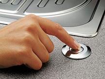 Кнопка пневматического управления (пневмокнопка) 72218, хром