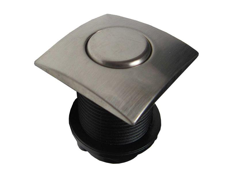 Кнопка пневматическая в цвете BRUSHED STEEL (пневмокнопка)