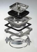 Адаптер для квадратного слива от мойки к измельчителю пищевых отходов