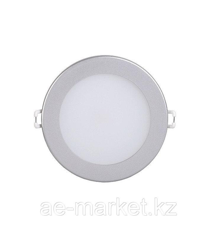 LED Спот панель круг. встр. 7w d130 4000K серебро.