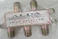 Сплиттер 4 отвода  5-900 MHz