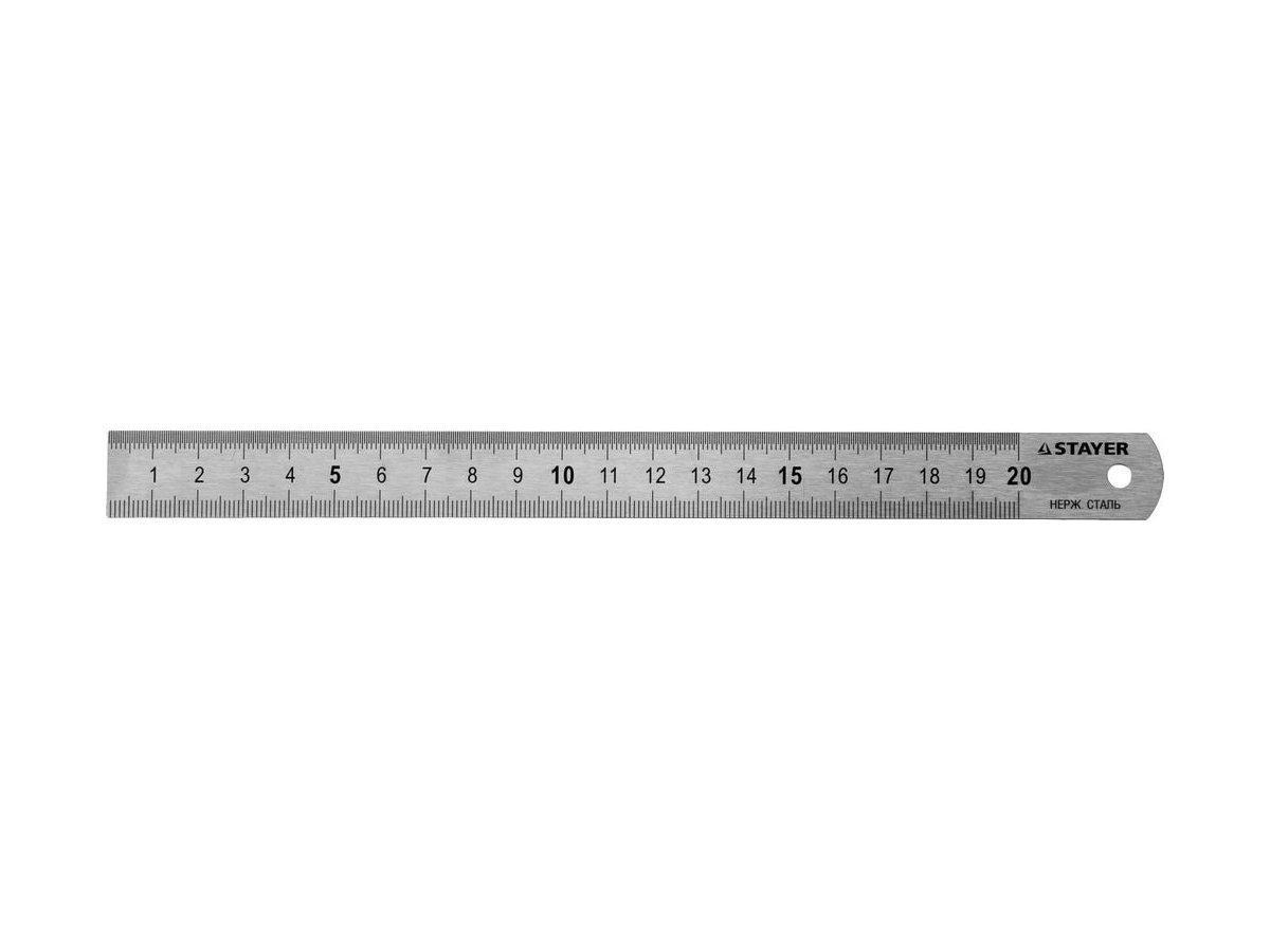 """(3427-020) Линейка STAYER """"PROFI"""" из нержавеющей стали, 0,2м"""