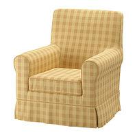 Кресло ЭННИЛУНД желтый клетка ИКЕА, IKEA, фото 1