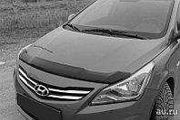 Дефлектор капота Hyundai Solaris (2014-2017) темный