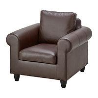 Кресло ФИКСХУЛЬТ темно-коричневый ИКЕА, IKEA  , фото 1