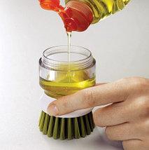Щетка для мытья посуды с дозатором для моющего средства, фото 2