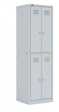 Шкаф для раздевалки металлический ШРМ 24 (1860х600х500 мм)