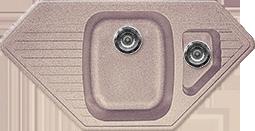 Кухонная мойка  из искусственного камня Gran-Stone GS-10K  (965х495 мм.) песочный