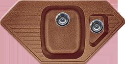 Кухонная мойка  из искусственного камня Gran-Stone GS-10K  (965х495 мм.) терракот
