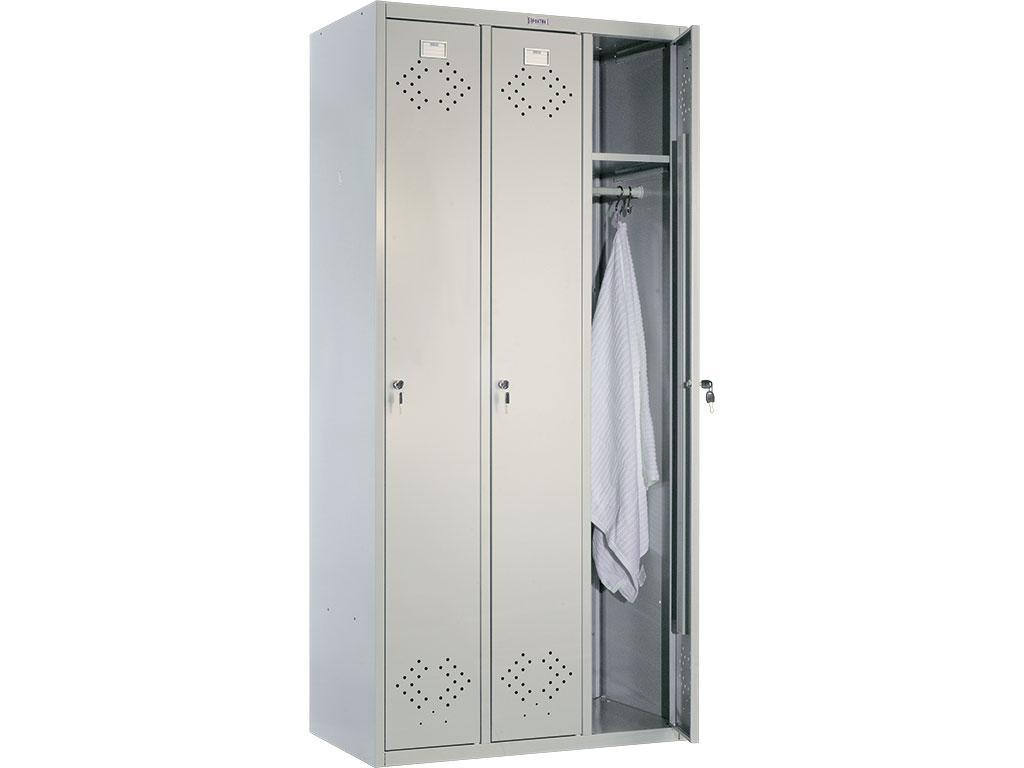 Шкаф для раздевалки металлический ПРАКТИК LS 31 (1830х850х500 мм)