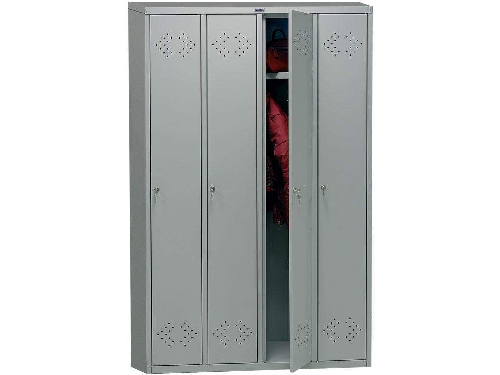 Шкаф для одежды металлический ПРАКТИК LS 41 (1830х1130х500 мм)