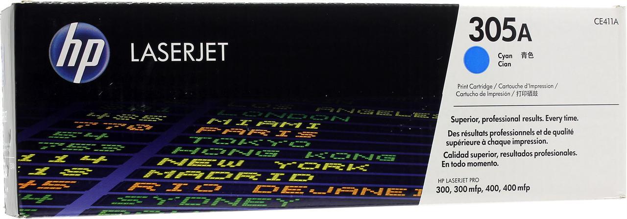 Картридж лазерный Голубой Cyan НР (№305A) для HP 300/300mlp, 400/400mlp