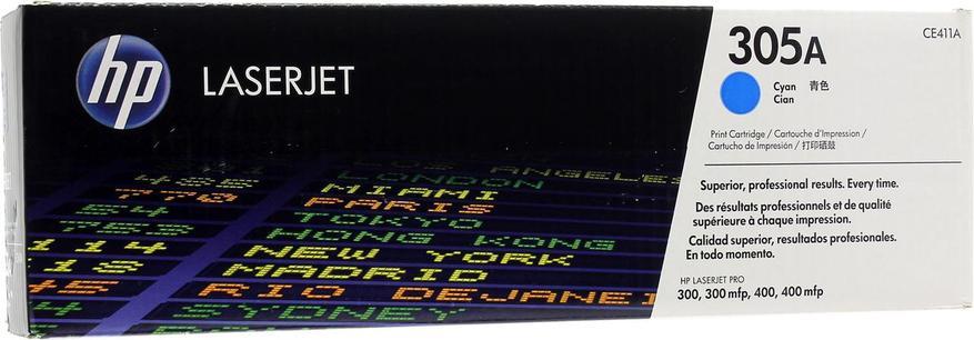 Картридж лазерный Голубой Cyan НР (№305A) для HP 300/300mlp, 400/400mlp, фото 2