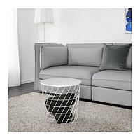 Столик с отделениями д/хранения КВИСТБРУ белый ИКЕА, IKEA  , фото 1