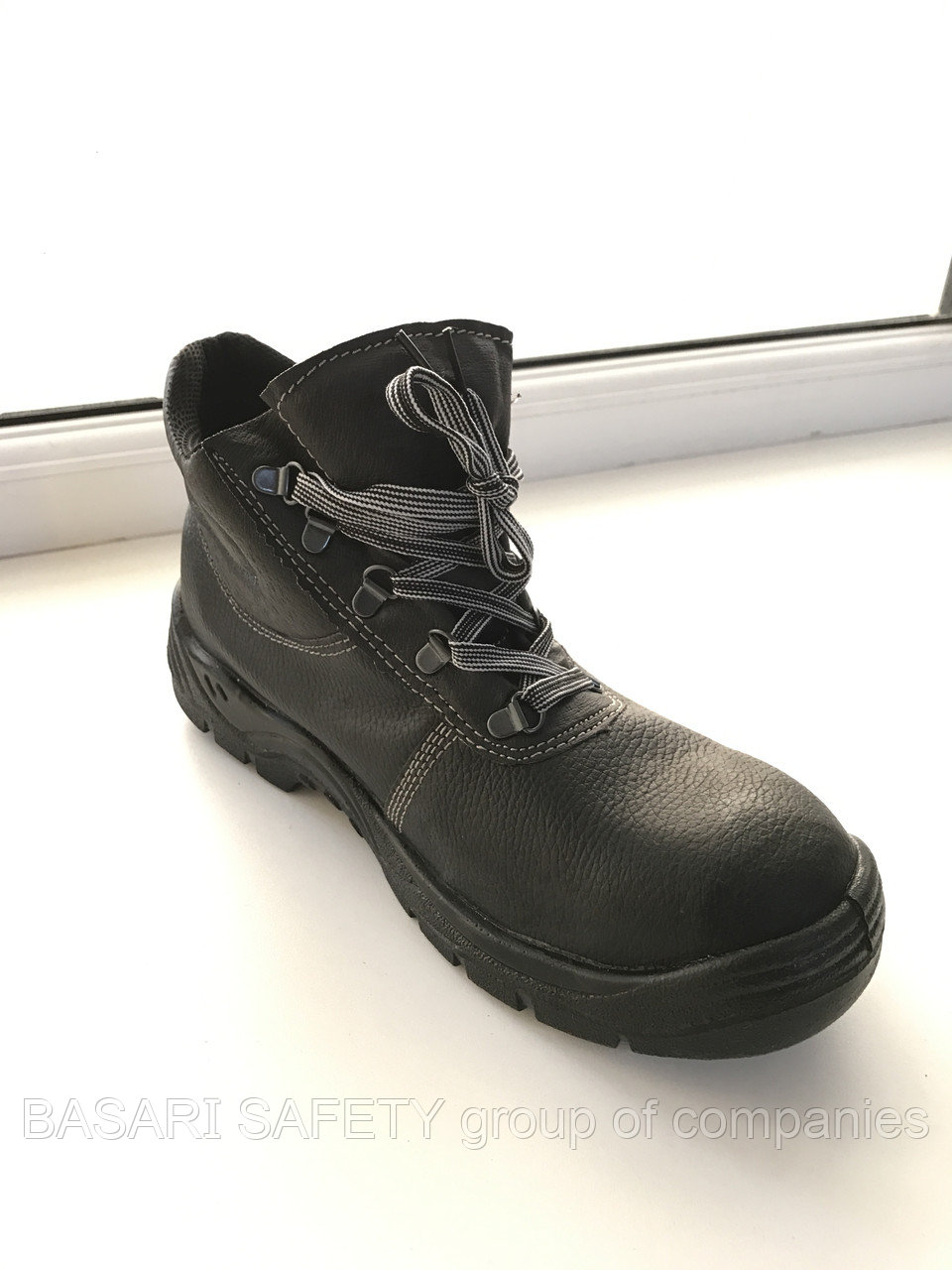 Ботинки из натуральной кожи с метал носком, спецобувь с металлическим подноском