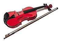Детская скрипка, 60 см, малиновый