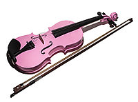 Детская скрипка, 60 см, розовый