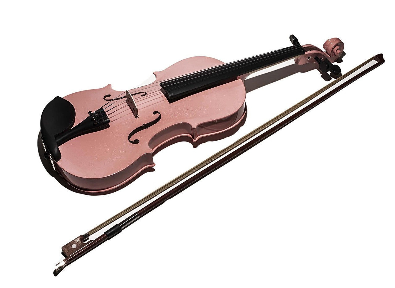Детская скрипка, 60 см, светло-розовый