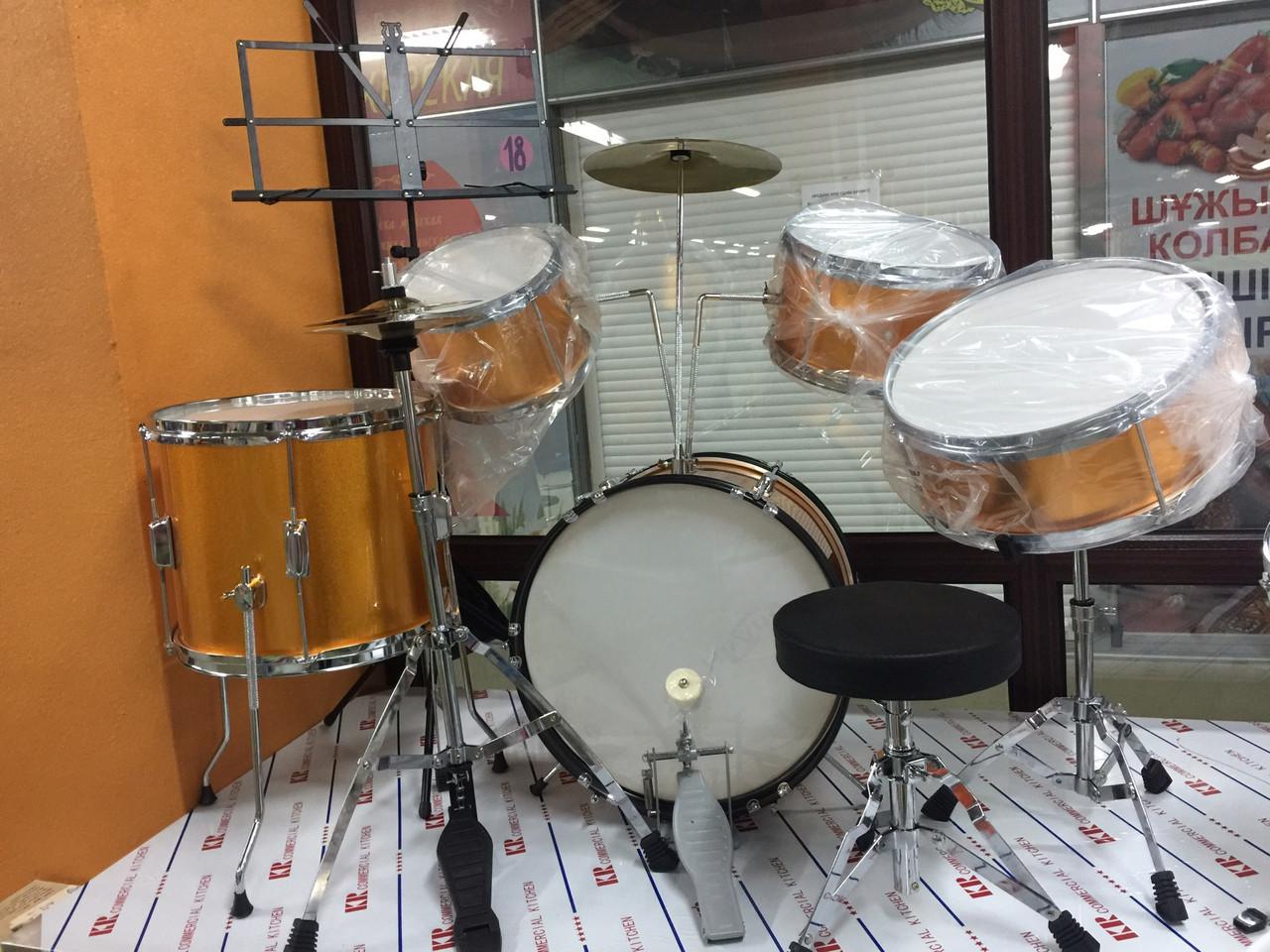 Детская барабанная установка, высота 88 см