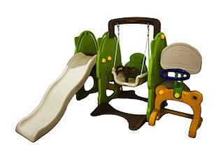 Детская площадка горка+качеля+колцо