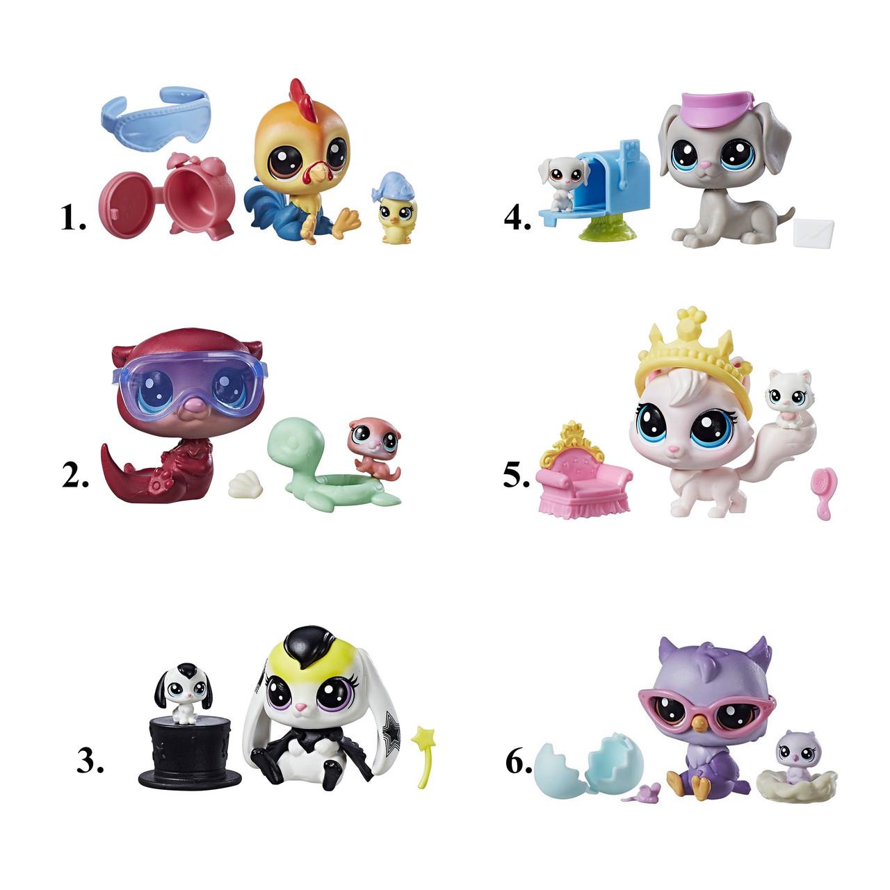 """Hasbro Littlest Pet Shop Набор из 2 фигурок """"Литл Пет Шоп"""" - """"Парочки"""" (1 серия)"""