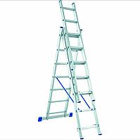 Лестница алюминиевая трехсекционная 3х14