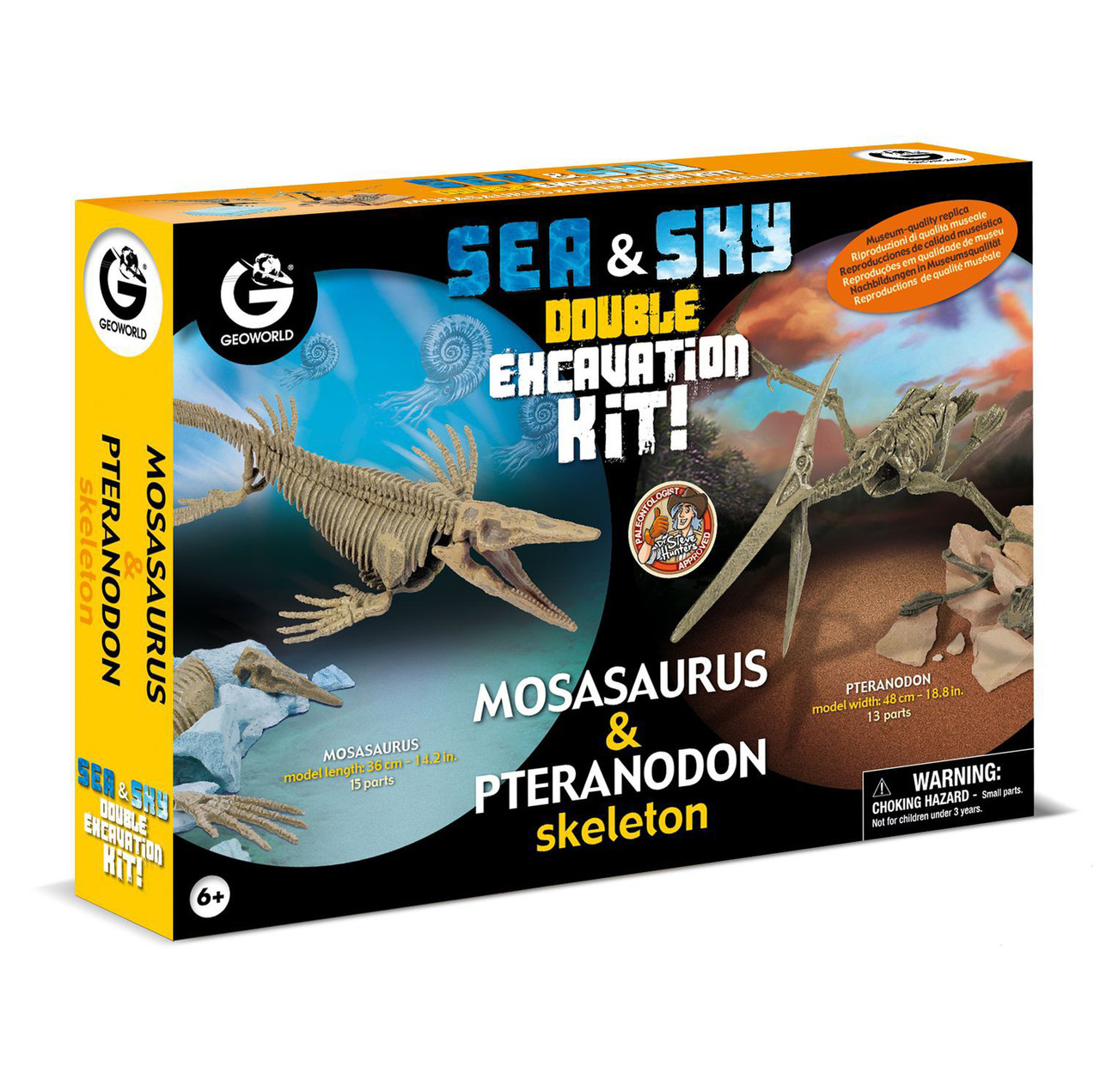 """Geoworld Двойной набор для проведения раскопок """"Мозазавр и Птеранодон"""""""