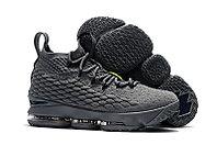 """Баскетбольные кроссовки Nike LeBron XV (15) """"Grey/Volt"""" (40-46)"""