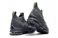 """Баскетбольные кроссовки Nike LeBron XV (15) """"Grey/Volt"""" (40-46), фото 3"""