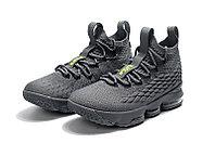 """Баскетбольные кроссовки Nike LeBron XV (15) """"Grey/Volt"""" (40-46), фото 2"""