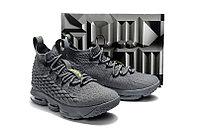 """Баскетбольные кроссовки Nike LeBron XV (15) """"Grey/Volt"""" (40-46), фото 5"""