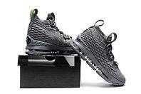 """Баскетбольные кроссовки Nike LeBron XV (15) """"Grey/Volt"""" (40-46), фото 6"""