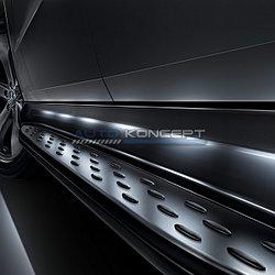 Пороги на Mercedes Benz GL Class X166 2013- (дизайн LED)