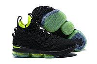 """Баскетбольные кроссовки Nike LeBron 15 """"Black/Volt"""""""