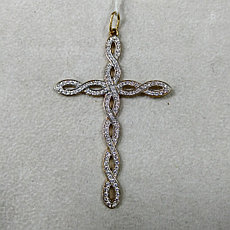"Подвеска "" Крест "" / красное золото"