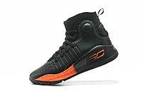 """Баскетбольные кроссовки Under Armour Curry IV """"Black/Orange"""" (36-46), фото 3"""