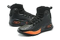 """Баскетбольные кроссовки Under Armour Curry IV """"Black/Orange"""" (36-46), фото 5"""