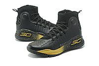 """Баскетбольные кроссовки Under Armour Curry IV """"Black/Gold"""" (36-46), фото 2"""
