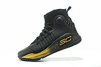 """Баскетбольные кроссовки Under Armour Curry IV """"Black/Gold"""" (36-46), фото 3"""